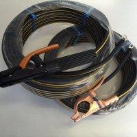 ☆新品☆溶接用キャブタイヤケーブル イエローライン(黄/黒) WCT22SQ 50m(ホルダー線+アース線)付属完成品