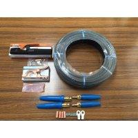 ☆新品☆溶接用キャブタイヤケーブル WCT22SQ 50m 付属品付(ホルダー+アースクリップ+ケーブルジョイント2組+端子2個)