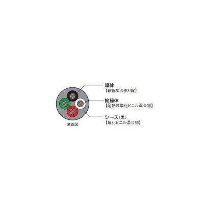 ☆新品☆ 富士電線 S-VCTF(ソフトVCTF) 1.25SQx3C ケーブル(電線)☆100m巻☆領収書可能